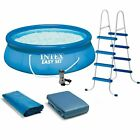 Intex 15 x 48 Inflatable Easy Set Above Ground Swimming Pool w Ladder