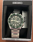 Seiko SRPD63 Green Dial Stainless Steel Wrist Watch for Men NWT Hulk Diver Sub