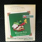 HALLMARK 2005 WINTER FUN WITH SNOOPY  8 MINIATURE ORNAMENT