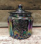 Carnival Glass Vintage Style Kitchen Biscuit Jar with Lid