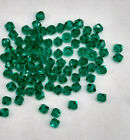 90pc Crystal Glass 4mm Bicone Beads Teal Turquoise Color CLEARANCE ONLY SET