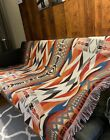 Large Native American Navajo Tribal Cotton Throw Blanket Picnic Rug Tapestry