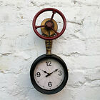 Wall Metal Industrial Style Rustic Warehouse Factory Station Pipe Art Clock Gift