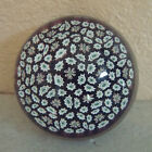 Vintage Signed Murano Italy Millefiori Art Glass Paperweight