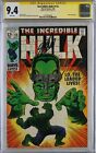 Incredible Hulk 115 CGC 94 SS The Leader Signed by Stan Lee