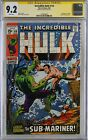 Incredible Hulk 118 CGC 92 SS Sub Mariner Signed by Stan Lee