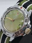 VOSTOK KOMANDIRSKIE MILITARY AUTO RUSSIAN WATCH SEMI WORKING FOR PARTS REPAIR