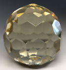 Antique 20th C Faceted Glass Diamond Optic Paperweight
