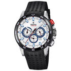 Festina Silver Stainless Steel Case and Black Rubber Strap Men's Watch. F20353-1