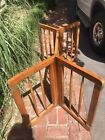 Danish Modern Teakwood Dining Table Spindle Frame Without Glass 54 Long