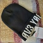 RED Valentino Love You L0V3 Y06 Monochrome Wool Knit Athletic Beanie Hat