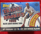 1999 Topps Traded and Rookies Factory Sealed Baseball Hobby Box Set +1 Autograph