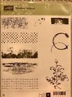 Stampin Up retired Timeless Textures clear mount rubber stamps Gently used