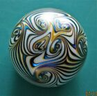 NORTHERN STAR SMYRES ART GLASS IRIDESCENT FLOWER SPECTACULAR COLOR  CONDITION