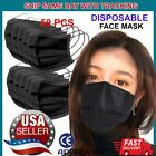 50 Pcs Disposable Face Mask 3-ply Dust Filter Respirator Breathable Safety New