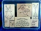 Stampin Up Best Of Cluck 7 Piece Wood Mounted Rubber Stamp Set 2005 RETIRED