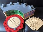 Thomas Sodor Wooden Railway Tidmouth Roundhouse Shed 5 Way Switch Turntable
