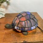 Tiffany Style Stained Glass Turtle Night Light Table Lamp
