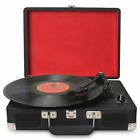 Jorlai Musitrend Turntable Portable Suitcase Record Player TT300 316Blk