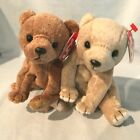 Almond and Pecan Bears Lot of 2 Ty Beanie Babies 1999 PE Retired  7