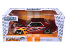 JADA BIGTIME 99085 1969 CHEVROLET CAMARO 1 24 DIECAST CANDY RED with FLAMES