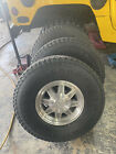 H1 Hummer oem humvee wheels with Goodyear wrangler GS A