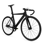 Throne TRKLRD Track Lord Fixed Gear Single Bicycle Black Matte 49 52 55 59 CM