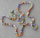 LONG Vintage Murano Glass Beads MILLEFIORI NECKLACE
