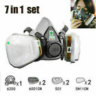 7 In 1 Half Face Mask For 6200 7502 Gas Painting Spray Protection Respirator