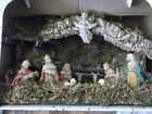 Large Nativity Stable Creche With Figures Made in Italy