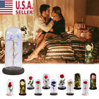 Rose In A Glass Beauty And The Beast Enchanted Dome LED Light Lamp Decor Gift US