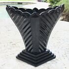 Art Deco Nouveau Black Amethyst Glass Vase Tiara Modernistic Depression
