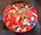 Vintage Red and Pink Murano Millefiori Scrambled Canes Glass Paperweight 2 1 2