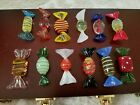 Lot of 12 Murano Hand Blown Glass Wrap Candy