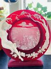Tiffanys World Enchanted Moments Incolay and Cameo glass plate limited edition