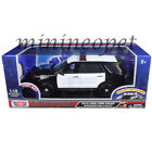 MOTORMAX 73996 2015 FORD POLICE INTERCEPTOR 1 18 w LIGHTS  SOUND BLACK WHITE