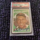 2008 TOPPS HERITAGE ORLANDO CEPEDA *REAL ONE AUTO AUTOGRAPH PSA 10 GEM MINT*