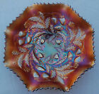 AMETHYST CARNIVAL GLASS NORTHWOOD WILD STRAWBERRY LARGE BOWL
