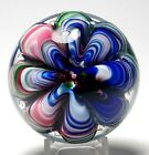 Joe St Clair Multicolored Ribbon Crimp Paperweight Signed