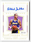 2018-19 National Treasures Kareem Abdul-Jabbar Autograph Card 10 - Lakers Auto