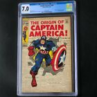 Captain America #109 (1969) 💥 CGC 7.0 OW-W 💥 Classic Jack Kirby Cover! Marvel