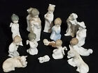LLADRO MINI NATIVITY SET COMPLETE SET OF 15 WITH COW ANGEL AND DONKEY