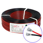 2-core Flexible Rubber Silicone Wire Black Red Flat Ribbon Cable Tinned Copper