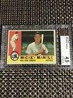 1960 TOPPS #350 MICKEY MANTLE BASEBALL CARD YANKEES BVG 4.5 VG-EX+