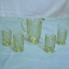 Weishar Moon and Star Childs Doll Pitcher Tumbler Set Yellow New NOS Mint
