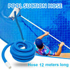 12M Inground Pool Vacuum Cleaner Hose Suction Swimming Replacement Pipe Blue USA