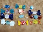Vintage Lot 12 Murano Italy Hand Blown Glass Candy Italian Millefiore Candies