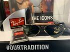 NEW AUTHENTIC RAY BAN OUTDOORSMANORB3030 L0216 ARISTA GOLD GREEN LENS 58MM