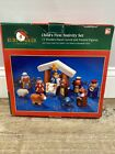 Kurt S Adler Childs First Nativity Set 12 Wooden Figures Missing One Figure