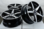 17 Black Wheels Rims Fit Honda Accord Civic Prelude Elantra Sonata Kia Soul 4